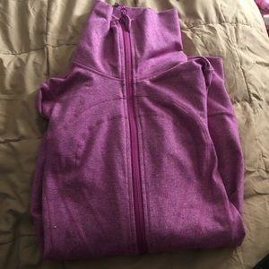 EUC Lululemon Pink Purple Zip Up Sweater Size 4